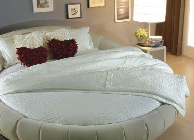 """Круглая кровать с матрасом из 100% натурального латекса """"Round Bed Beige"""""""