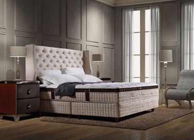 """Дизайнерская кровать с матрасом из 100% натурального латекса коллекция """"Transforme Plush"""""""